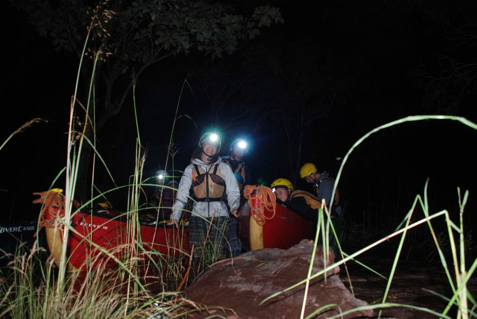 Packing Canoes in the Night © Dale Shaw 2011